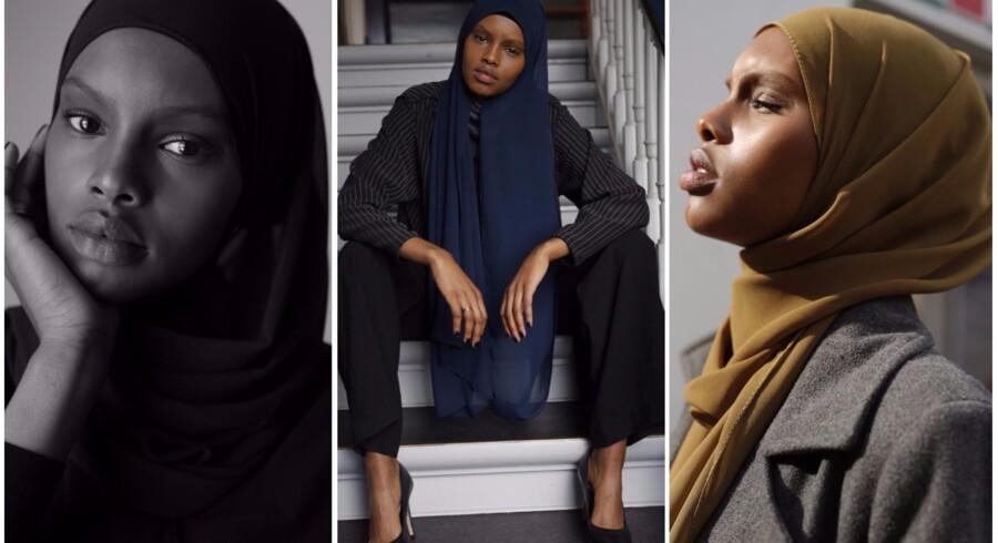 »Jeg bliver spurgt, hvor mange modeller vi skal have med hijab, og mit svar er, at jeg ansætter, hvis jeg finder en, der er lige så smuk,« siger Jesper Thomsen, direktør i Unique Models, efter ansættelsen af modellen Amina Adan, der bærer tørklæde.