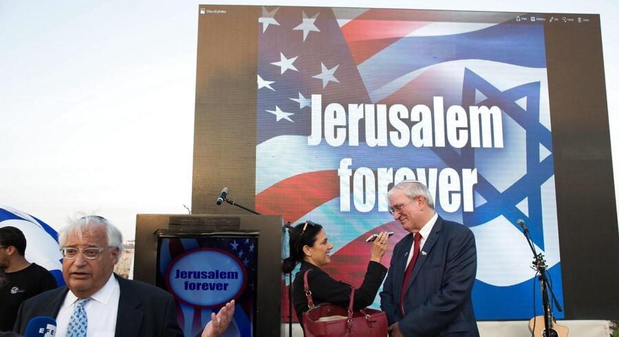 Donald Trumps rådgivere på Mellemøsten, David Friedman, bliver USAs nye ambassadør i Israel. EPA/ABIR SULTAN