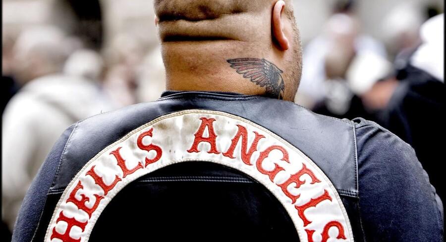 Arkivfoto. Hells Angels rygmærke.