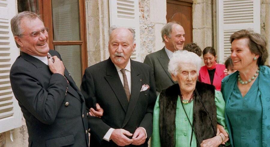 Prins Henrik med sine forældre og sin søster Maurille Beauvillai.