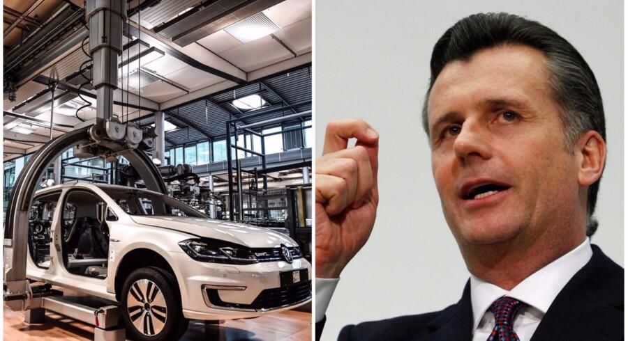 TH: Tidligere schweizisk centralbankchef Philipp Hildebrand, som nu er vice president i BlackRock REUTERS/Pascal Lauene. TV: Produktion af e-Golf i fabrikker i Dresden, april 2017. EPA/FILIP SINGER