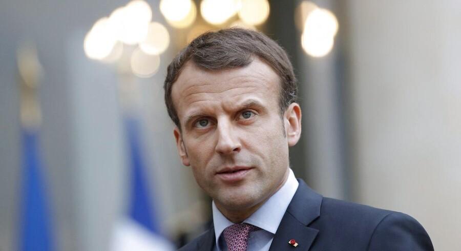 Frankrigs præsident, Emmanuel Macron, advarer sin amerikanske modpart, Donald Trump, mod at udpege Jerusalem som Israels hovedstad.