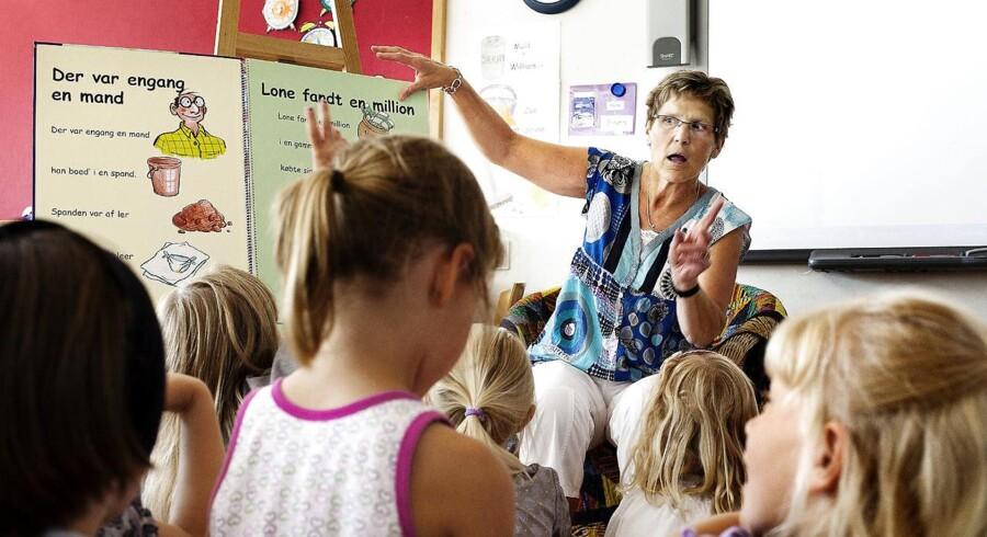 Børn i 0. klasse i udvalgte områder skal bestå en danskprøve for at få lov til at rykke op i 1. klasse.