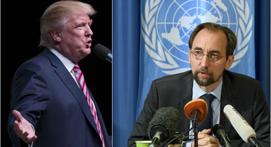 Set fra et internationalt ståsted vil Donald Trump udgøre en fare, hvis han bliver valgt til USA's præsident, siger FN's højkommissær for menneskerettigheder, Zeid Ra'ad al-Hussein.