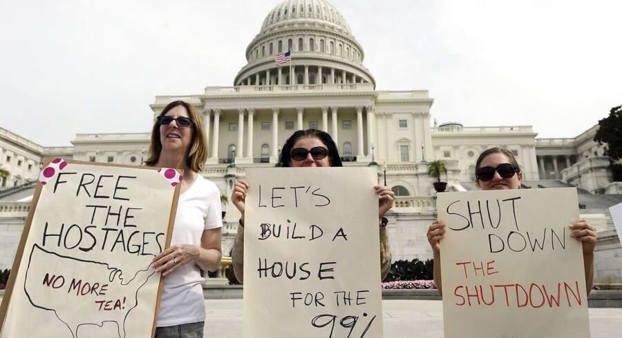 Der er altid demonstranter foran Kongressen