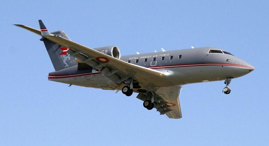 Royal Danish Air Force fly i Københavns Lufthavn - - - CL-604 Challenger - C168 - - -