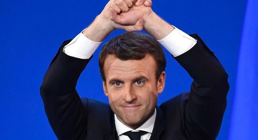 Frankrig nye præsident Emmanuel Macron.