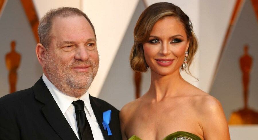 Harvey Weinstein med hustruen Georgina Chapman.