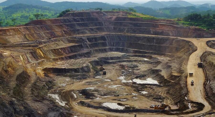Et vue over kobber- og koboltminen ved Tenke Fungurume i DR Congo,hvor verdens største udvinding af kobolt finder sted. Arkivfoto: Jonny Hogg, Reuters/Scanpix
