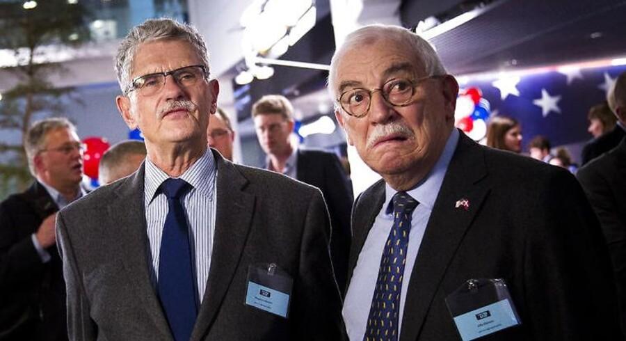 De har været vidne til meget, men det nuværende dårlige forhold mellem USA, EU og Rusland topper alligevel listen for de to forhenværende udenrigsministre, Uffe Ellemann-Jensen og Mogens Lykketoft. Arkivfoto.