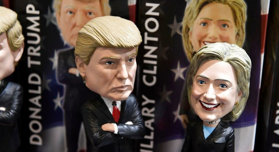 Donald Trump eller Hillary Clinton? Sådan læser du valgmatematikken.