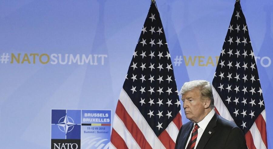 Donald Trump skabtefurore med flere af sine indledende udmeldinger på NATO-topmødet, men fik tilsyneladende sin vilje i forhold til at få de andre medlemslande til at betale mere til deres forsvar.