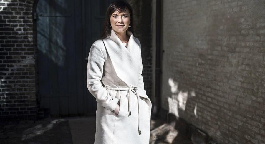 Portræt af Sophie Løhde, Minister for offentlig innovation.
