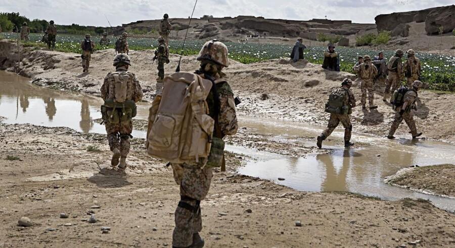 Foto fra 2009 af danske soldater i Helmand-provinsen. Foto: Søren Bidstrup/Scanpix
