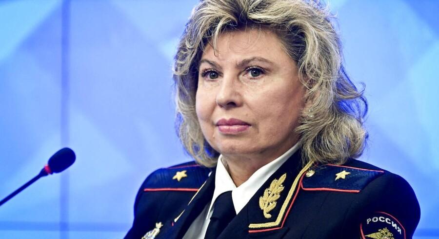 Fremover er det Tatjana Moskalkova (billedet), der skal overvåge, om borgerrettighederne respekteres i Rusland. Den 60-årige tidligere politichef tiltrådte mandag posten som den russiske præsidents ombudsmand for menneskerettigheder.