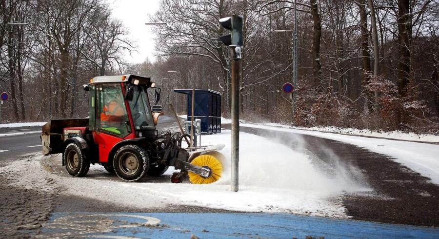 Sne på vej til dele af landet.