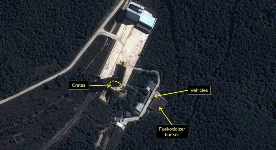 Nordkorea har på ny forsøgt at affyre et missil uden held, lyder det fra Sydkorea og USA. Scanpix/Handout