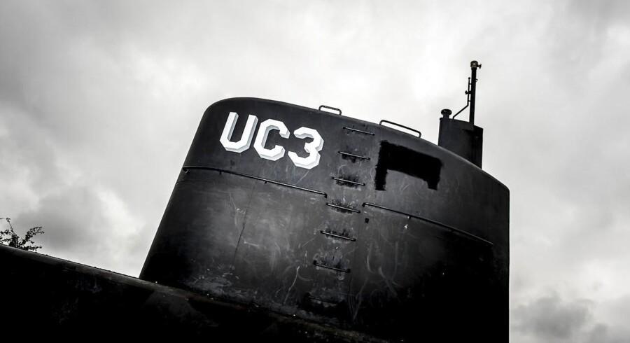Arkivfoto: Peter Madsens ubåd UC3 Nautilus bag hegn i Københavns Nordhavn.