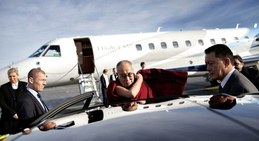 Dalai Lama ankom til København tirsdag.