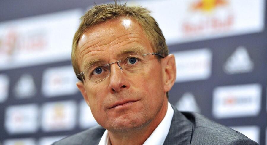 (ARKIV) Ralf Rangnick skal i den kommende sæson være træner for Yussuf Poulsen i den tyske klub RB Leipzig. Det skriver Ritzau, mandag den 9. juli 2018.. (Foto: ERNST WUKITS/Ritzau Scanpix)