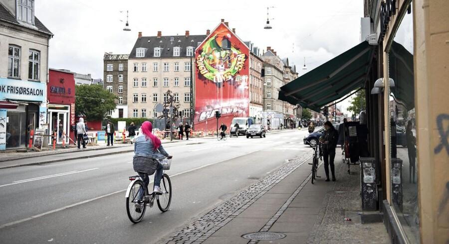 Arkivfoto: Cyklist på Nørrebrogade. Alternativet vil give skattefordele til cyklister.