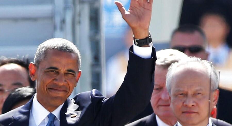 Her ankommer USAs præsident Barack Obama til Kina 3. september forud for G20-topmødet i Hangzhou. REUTERS