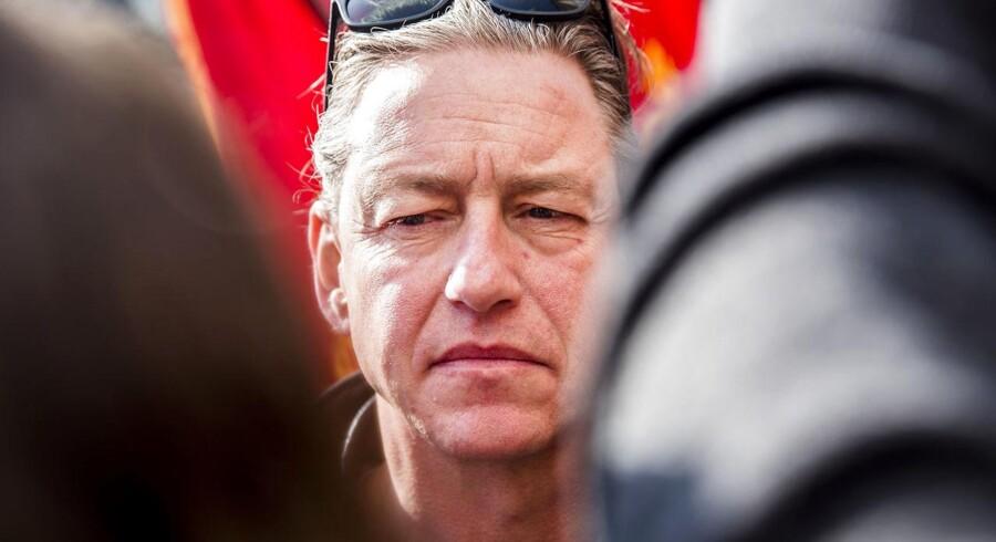 De statsansattes topforhandler, Flemming Vinther. Forhandlinger i Forligsinstitutionen på Sankt Annæ Plads i København den 12. April 2018