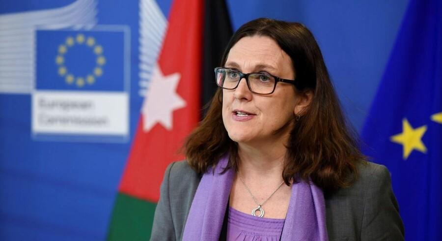 EU's handelskommissær, Cecilia Malmström, har de seneste dage været i Washington i et forsøg på at overtale USA til at undtage EU fra tolden