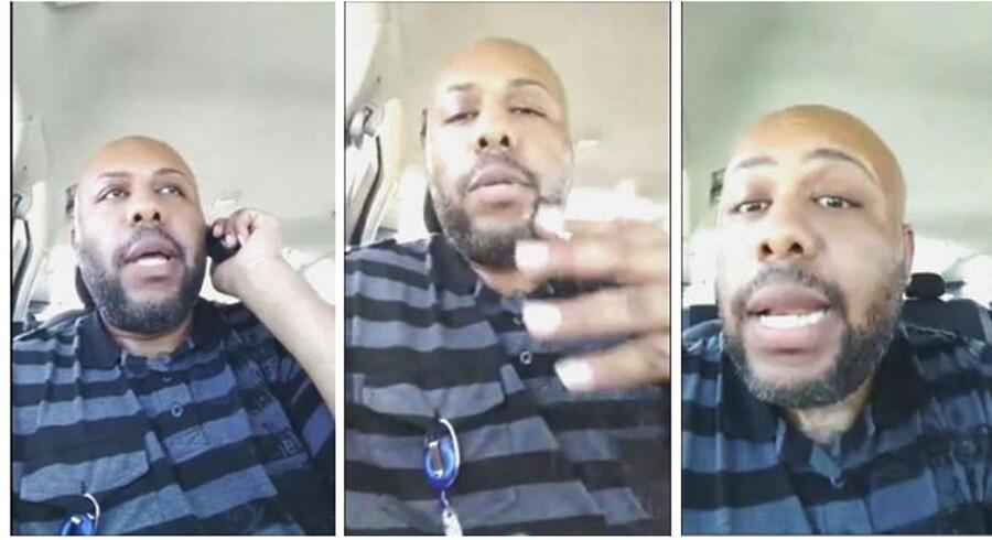 Steve Stephens myrdede søndag en mand. Han filmede mordet og lagde optagelsen op på Facebook.Billederne stammer fra videoen.