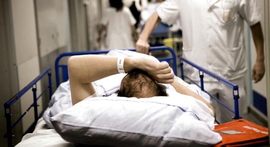 Arkivfoto. En gruppe patienter på Psykiatrisk Hospital i Risskov optager sengepladserne, selvom de egentlig er raske nok til at blive udskrevet. (Foto: Linda Kastrup/Scanpix 2017)