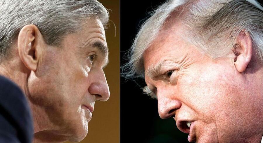 Donald Trump er rasende over ransagninger hos hans advokat. Det er gået for vidt, siger talsmand. / AFP PHOTO / SAUL LOEB AND Brendan Smialowski