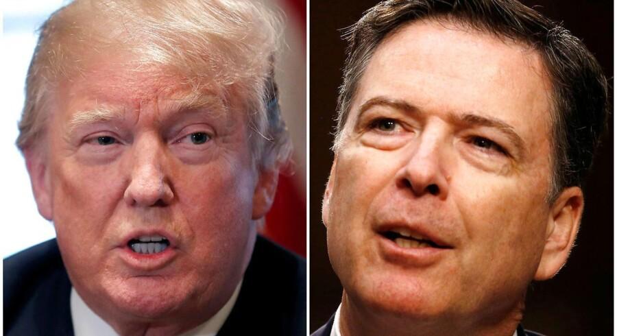 Trump og tidligere FBI-chef Comey. REUTERS/Carlos Barria, Jonathan Ernst/File Photos