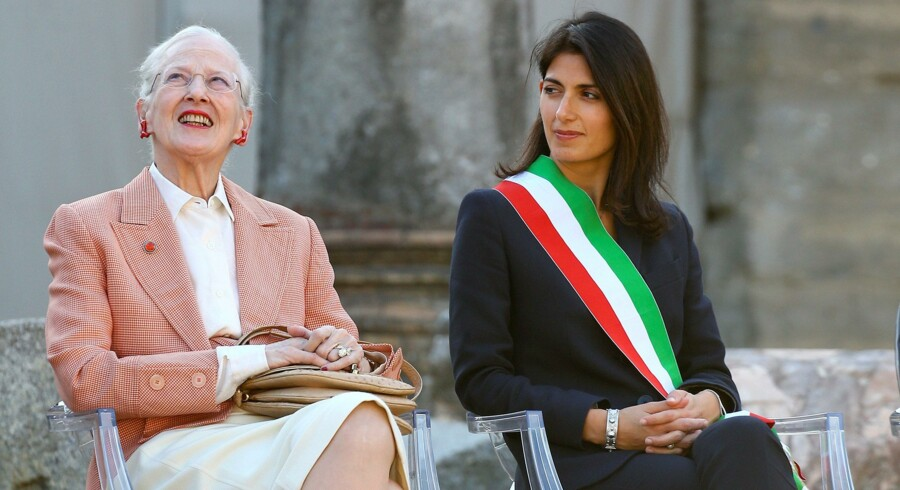 Dronning Margrehte er rejst til Rom, hvor hun har et travlt program.