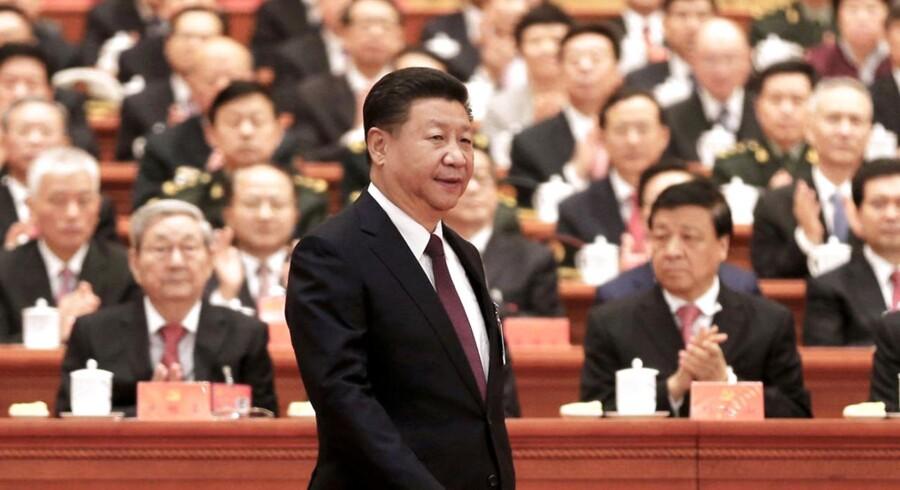 Xi Jinping talte på kongressen om at stramme grebet og styrke kontrollen i partiet – men samtidig åbne Kina mere op for internationale forretninger.