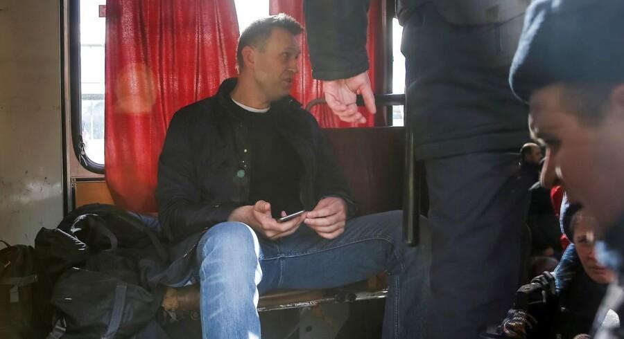 Den rusiske aktivist Aleksej Navalnij er løsladt. Han er en åbenmundet kritiker af præsident Putin REUTERS/Maxim Shemetov
