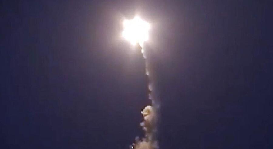 Arkivfoto af russisk krydsermissil.