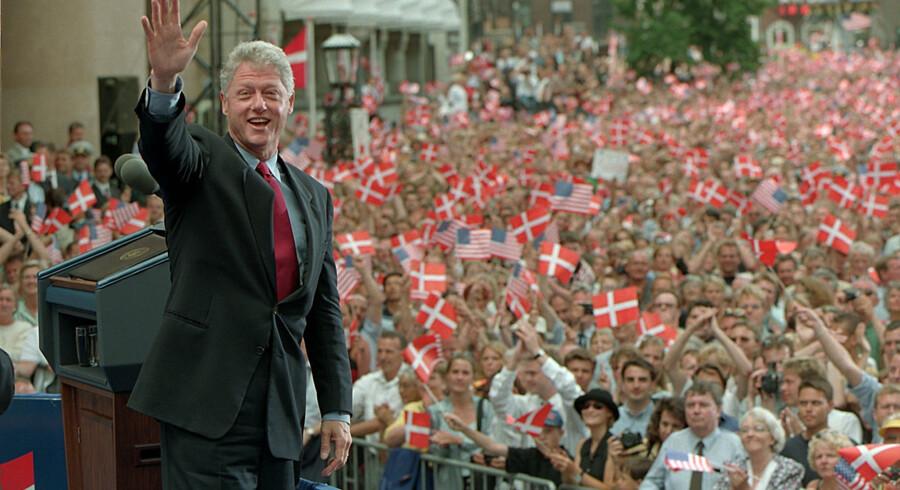 København var på den anden ende, da daværende præsident Bill Clinton i 1997 var på officielt besøg. Scanpix/Linda Kastrup/arkiv
