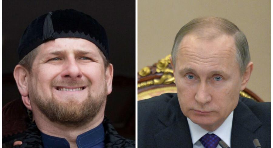 Ramsan Kadyrov og Valdimir Putin.