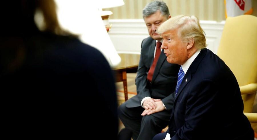 Præsident Trump mødes med Ukraine's President Petro Poroshenko i Det Hvide Hus