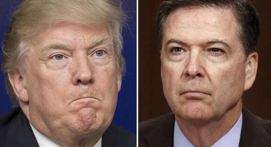 Præsident Donald Trump og tidligere FBI-direktør James Comey, som præsidenten fyrede i maj sidste år, har atter sat kurs mod en stor infight, efter at Comey har skrevet en afslørende bog om Trump.