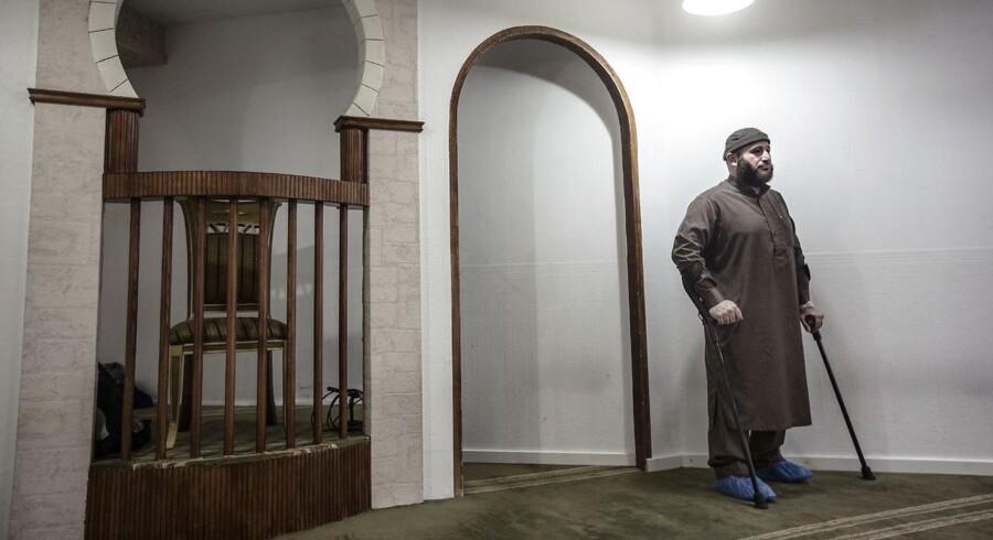 Talsmand for Grimhøjmoskeen, Oussama El Saadi, er frustreret over, at Inger Støjberg (V) genbesøger Muhammed-tegningerne.