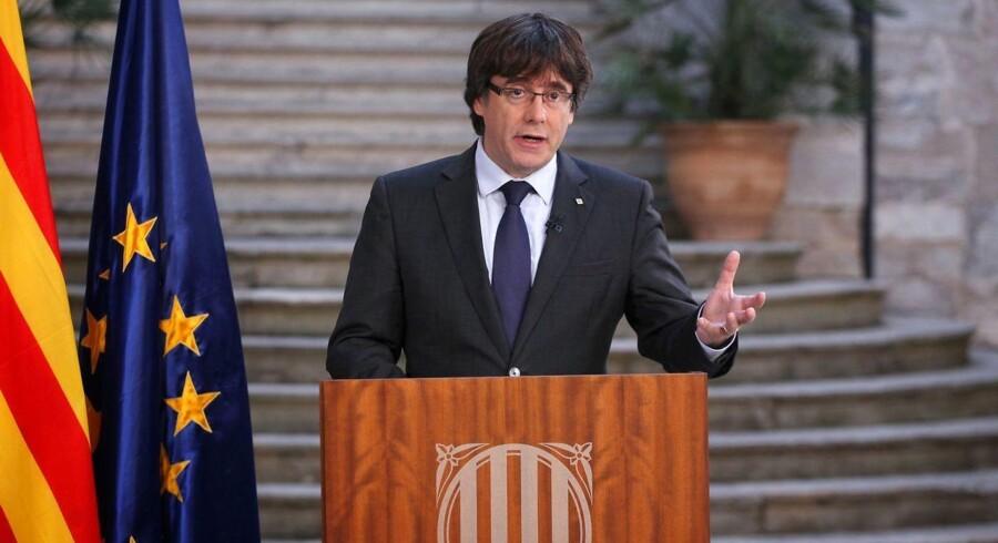 Catalonien har været for hurtigt ude med klage over mistet selvstyre, oplyser forfatningsdomstol. (Foto: JORDI BEDMAR/Scanpix 2017)