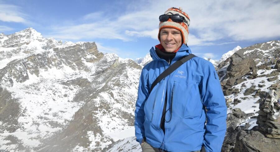 Rasmus Juul-Olsen er uddannet i Mærsk, hvor han tilbragte syv år, før han sagde op og rejste verden rundt. Det førte ham til Nepal, hvor han nu driver en virksomhed med 25 ansatte. Privatfoto