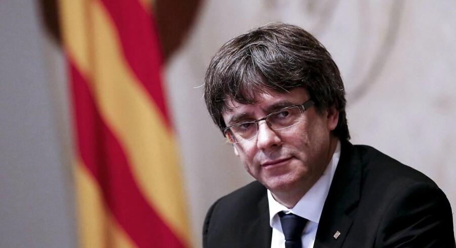 Den katalanske præsident Carles Puigdemont.