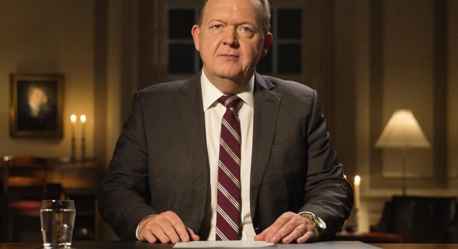 Statsminister Lars Løkke Rasmussen bliver i Jyllands-Posten beskyldt for at tage æren for den tidligere regeringens arbejde. (arkivfoto) Free/Kühn Hjerrild Melissa
