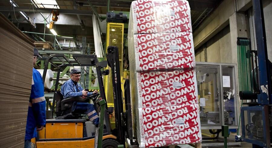 Arkivfoto. Produktion af rockwool på fabrikken Rockwool i Ø. Doense ved Hobro. Stenuldsproducenten Rockwool kommer torsdag med regnskab for første kvartal. (Foto: Henning Bagger/Scanpix 2017)