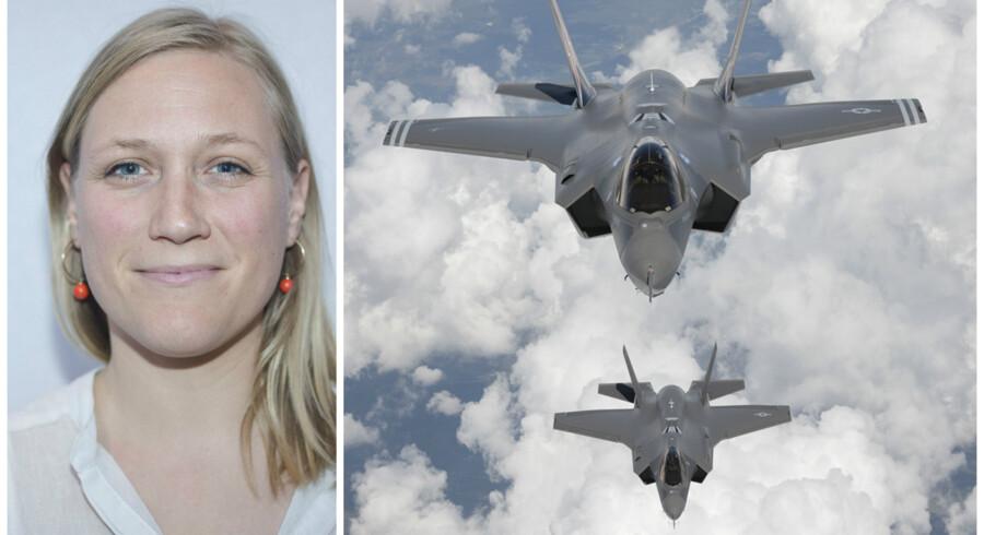Eva Flyvholm (EL) mener, at anbefalingen af Joint Strike Fighter ligner bestillingsarbejde.
