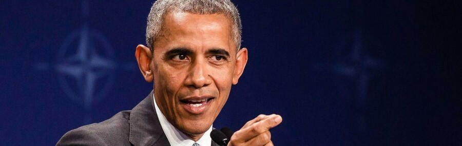 Som den sidste af NATOs stats- og regeringschefer trådte Barack Obama ind i pressesalen for at lukke og slukke topmødet og give sin sidste pressekonference som USAs præsident.