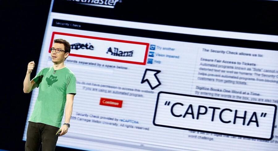Google er klar med en ny opdatering, der erstatter CAPTCHA synstemet. Den nye opdatering hedder Cloud Spanner. Arkivfoto