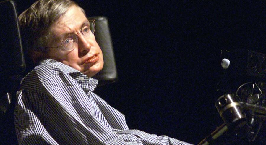 Stephen Hawkings døde 14. marts i år. Scanpix/Arkivfoto